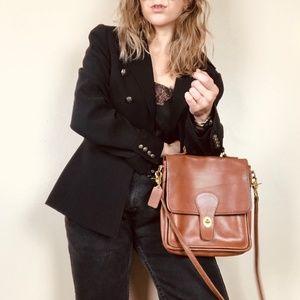 Coach Vintage Tan Leather Willis Crossbody Bag